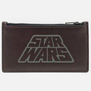 NWT-Coach Men's Star Wars Leather Zip Card Case